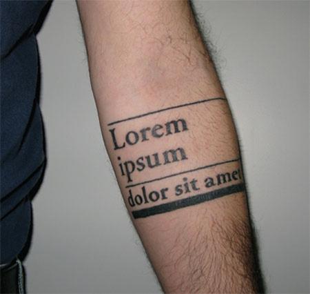 Tatuaje Tattoo lorem ipsum diseño grafico